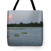 Moon Rising Over The Inlet Tote Bag