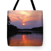 Moon River Silhouette Tote Bag