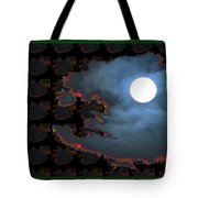 Moon Through Clouds  Photography With Graphic Flavour Created By Navinjoshi At Fineartamerica.co Tote Bag
