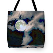 Moon Walk By The Clouds Tote Bag
