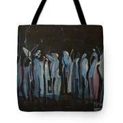 Moon Watchers Tote Bag by Paula Marsh