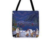 Moon When The Rivers Dream Tote Bag