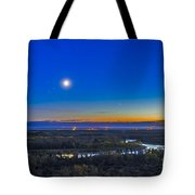 Moon With Antares, Mars And Saturn Tote Bag