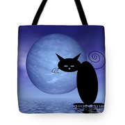 Mooncat's Loneliness Tote Bag by Issabild -