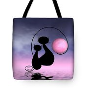 Mooncat's Love Tote Bag by Issabild -