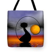 Mooncat's Waiting  Tote Bag