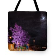 Moonlight And Colored Trees Tote Bag