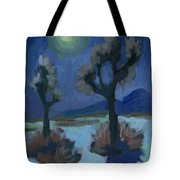 Moonlight And Joshua Tree Tote Bag