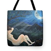 Moonlight And Sorrow Tote Bag