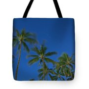 Moonlight And Star Trails Tote Bag