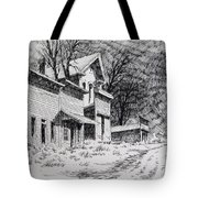 Moonlight Bannack Ghost Town Montana Tote Bag