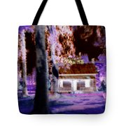 Moonlight Cabin Tote Bag