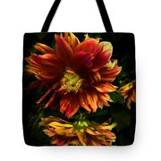 Moonlight Dahlia Tote Bag