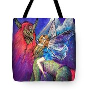 Moonlight Fairy And Her Horned Horse Tote Bag
