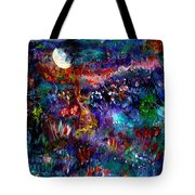 Moonlight Gardens Winter Tote Bag
