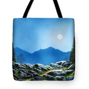 Moonlight Hike Tote Bag