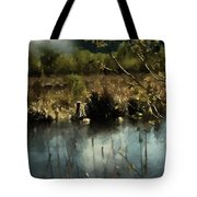 Moonlight On Canadian Lake Tote Bag