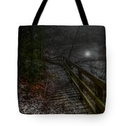 Moonlight On The River Bank Tote Bag