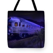 Moonlight On The Sante Fe Chief Tote Bag