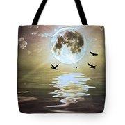 Moonlight On Water Tote Bag