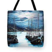 Moonlight Over Port Of Spain Tote Bag