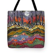 Moonlight Over Spring Tote Bag