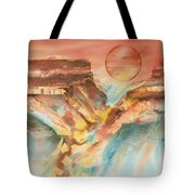 Moonlight Over The Grand Canyon Tote Bag