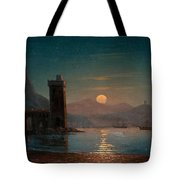 Moonlight Reflecting On Water Tote Bag