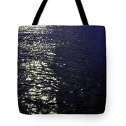 Moonlight Sparkles On The Sea Tote Bag