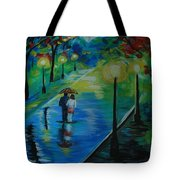 Moonlight Stroll Tote Bag