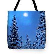 Moonlight  Through The Twilight Haze Tote Bag