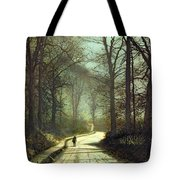 Moonlight Walk Tote Bag