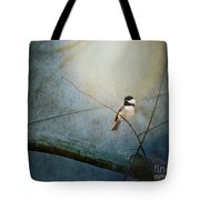 Moonlit Chickadee Tote Bag