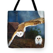 Moonlit Flight Tote Bag