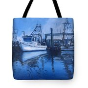 Moonlit Harbor Tote Bag