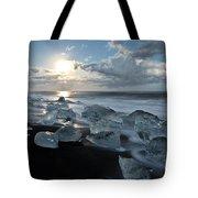 Moonlit Ice Beach Tote Bag