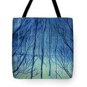 Moonlit In Blue Tote Bag
