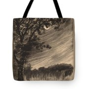 Moonlit Landscape With Tree At The Left Tote Bag