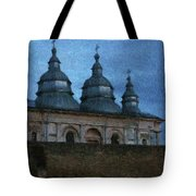 Moonlit Monastery Tote Bag