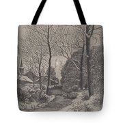 Moonlit Stroll In Winter Tote Bag