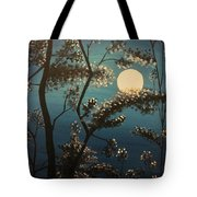Moonlit Trees Tote Bag