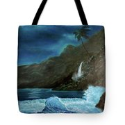 Moonlit Wave Tote Bag