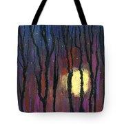 Moonrise In December Tote Bag