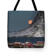 Moonrise In Reine Tote Bag