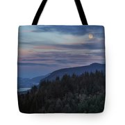 Moonrise Over Crown Point Tote Bag