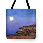 Moonrise Over Gallup Tote Bag