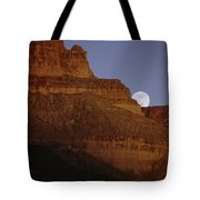 Moonrise Over The Grand Canyon Tote Bag