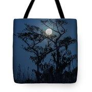 Moonrise Over Wetlands Tote Bag