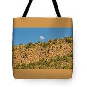 Moonrise Rio Grande Gorge Pilar New Mexico Tote Bag