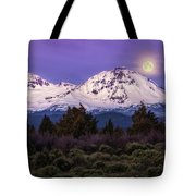 Moonset At Dawn Tote Bag